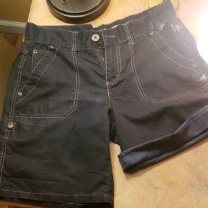 DKNY JEANS Linen Blend Shorts